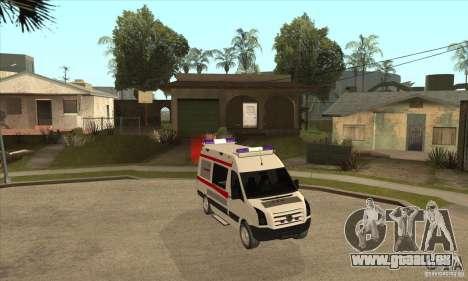 Volkswagen Crafter Ambulance pour GTA San Andreas vue arrière