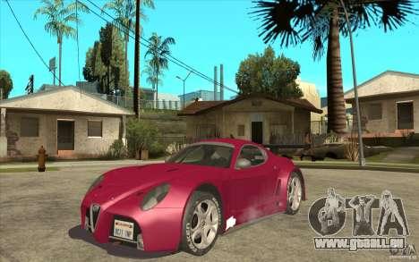 Alfa Romeo 8C GT3 RSX für GTA San Andreas