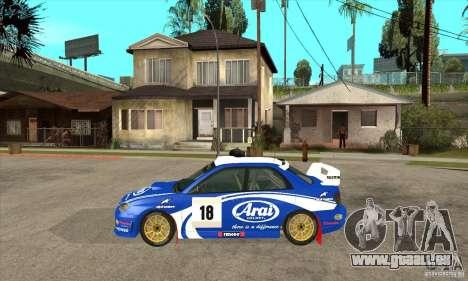 Subaru Impreza STi WRC wht1 pour GTA San Andreas sur la vue arrière gauche