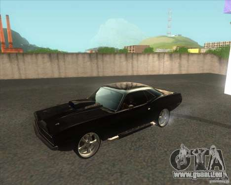 Plymouth Barracuda pour GTA San Andreas laissé vue
