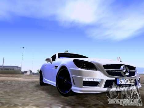 Mercedes-Benz SLK55 AMG 2012 pour GTA San Andreas sur la vue arrière gauche