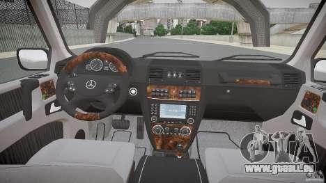 Mercedes Benz G500 (W463) 2008 pour GTA 4 Vue arrière