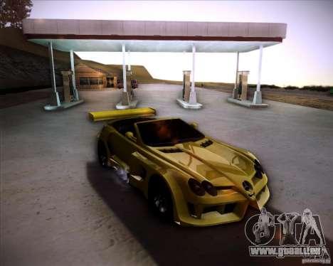 Mercedes-Benz SLR-Mclaren 722 Cabrio Tuned pour GTA San Andreas sur la vue arrière gauche