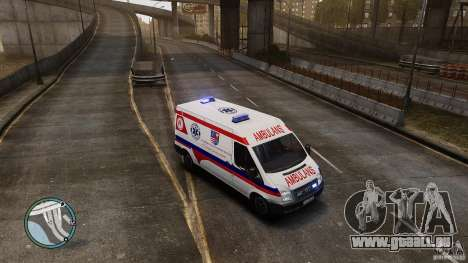Ford Transit Ambulance pour GTA 4 est une gauche
