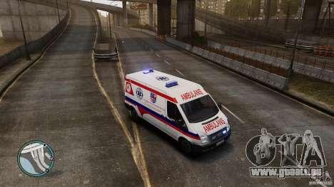 Ford Transit Ambulance für GTA 4 linke Ansicht
