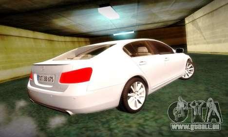 Lexus GS430 pour GTA San Andreas laissé vue
