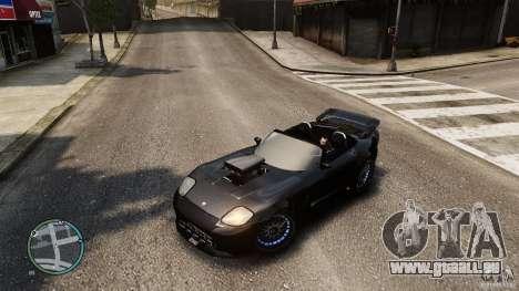 Blue Neon Banshee für GTA 4 Rückansicht
