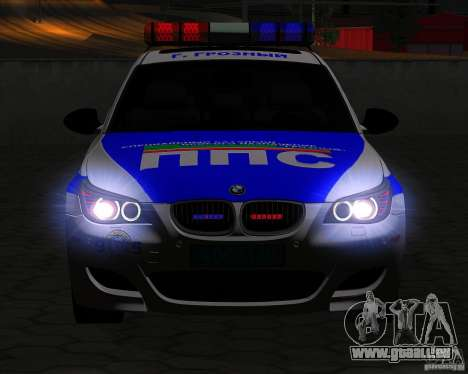 BMW M5 E60 Police pour GTA San Andreas vue de côté