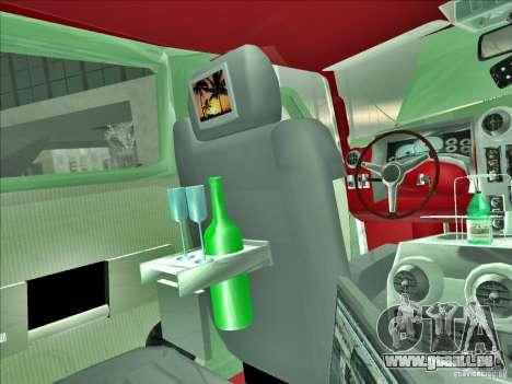 Hummer H2 Phantom pour GTA San Andreas vue de dessous