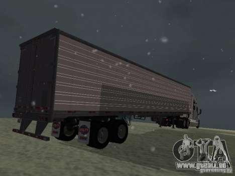 Kühlschrank-Trailer für GTA San Andreas rechten Ansicht