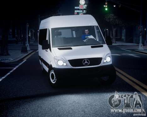 Mercedes-Benz Sprinter Long pour GTA 4 vue de dessus