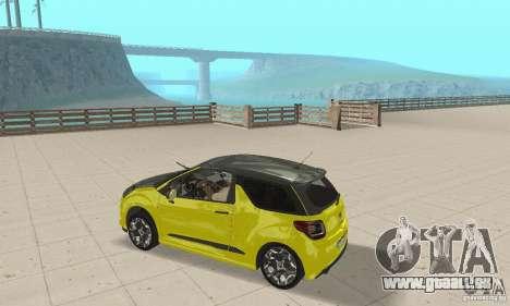 Citroen Ds3 Sport 2011 für GTA San Andreas rechten Ansicht