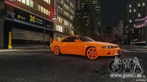 Nissan Skyline R33 GTR V-Spec pour GTA 4 Vue arrière