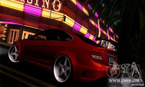 Mercedes Benz C63 AMG pour GTA San Andreas vue intérieure