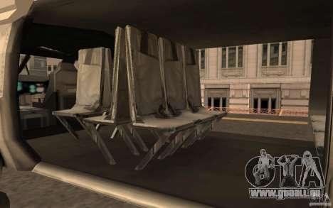 Black Hawk from BO2 für GTA San Andreas rechten Ansicht