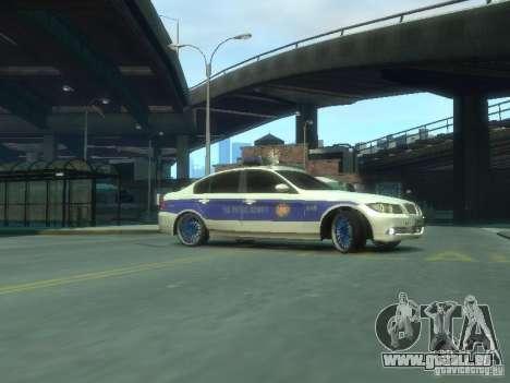 BMW 320i Police pour GTA 4 est une gauche