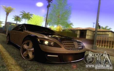 Mercedes-Benz S600 AMG WCC Edition für GTA San Andreas obere Ansicht