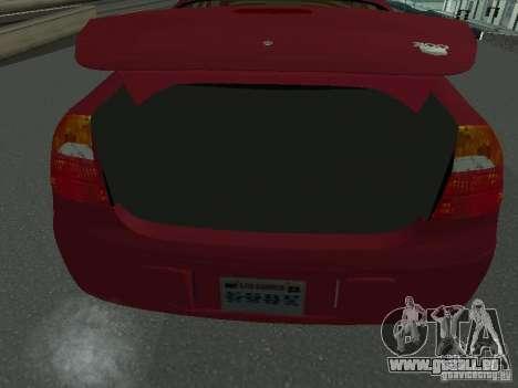 Chrysler 300M pour GTA San Andreas vue arrière