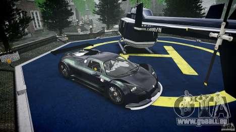 Gumpert Apollo Sport v1 2010 pour GTA 4 est une vue de l'intérieur