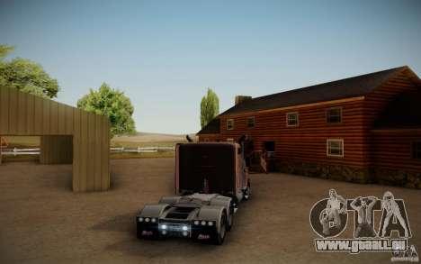 Mack Pinnacle Rawhide Edition für GTA San Andreas zurück linke Ansicht