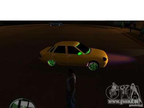 VAZ-2174 Priora Crazy Taxi für GTA San Andreas zurück linke Ansicht