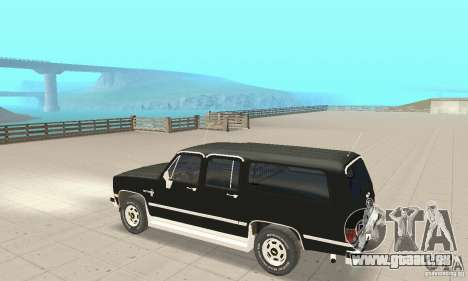 Chevrolet Suburban FBI 1986 für GTA San Andreas Rückansicht
