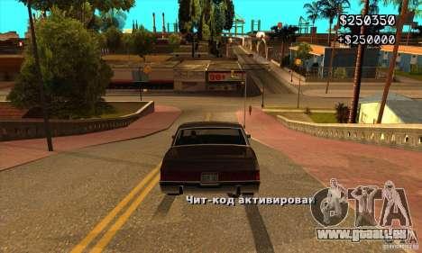 God car mod pour GTA San Andreas