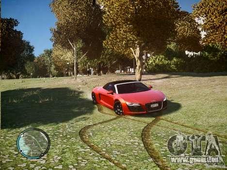 Audi R8 Spyder 5.2 FSI Quattro V4 [EPM] für GTA 4 linke Ansicht