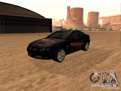 Vauxhall Monaro pour GTA San Andreas vue de dessus