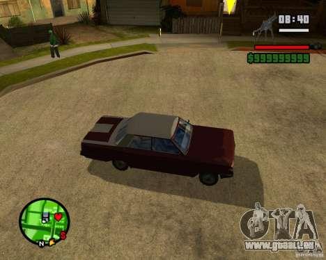 Mercury Mascarpone pour GTA San Andreas vue de droite