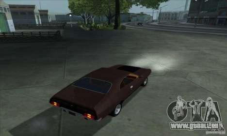 Ford Falcon GT Pursuit Special V8 Interceptor pour GTA San Andreas laissé vue