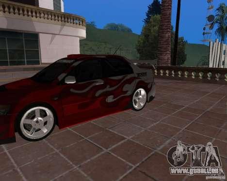 Mitsubishi Lancer Evolution VIII für GTA San Andreas Rückansicht
