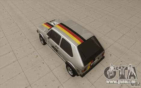 Volkswagen Golf Mk1 - Stock pour GTA San Andreas roue