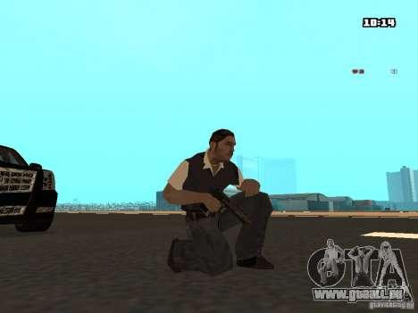 No Chrome Gun pour GTA San Andreas deuxième écran