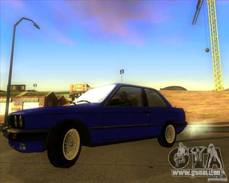 BMW E30 323i für GTA San Andreas zurück linke Ansicht