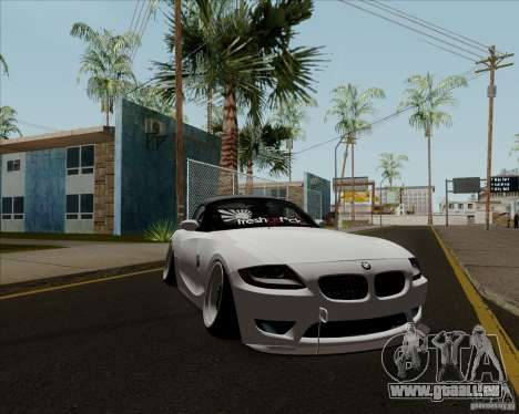 BMW Z4 Hellaflush pour GTA San Andreas laissé vue