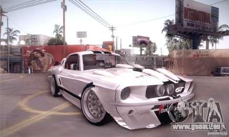 Shelby GT500 pour GTA San Andreas vue de droite