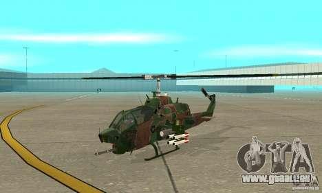 AH-1 super cobra pour GTA San Andreas laissé vue