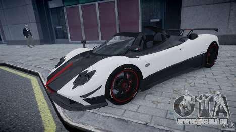 Pagani Zonda Cinque Roadster pour GTA 4 est une gauche