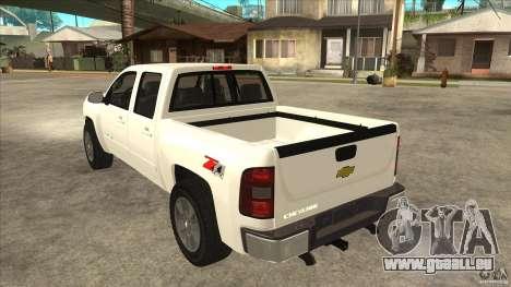 Chevrolet Cheyenne 2011 für GTA San Andreas zurück linke Ansicht