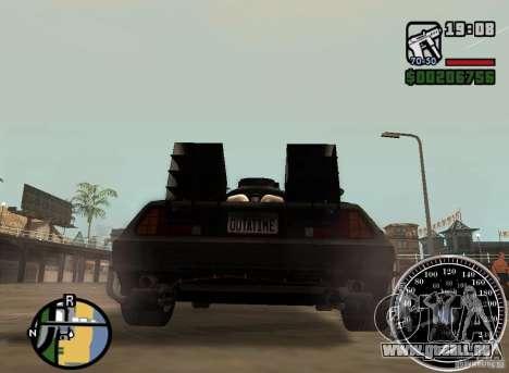 Crysis Delorean BTTF1 pour GTA San Andreas laissé vue