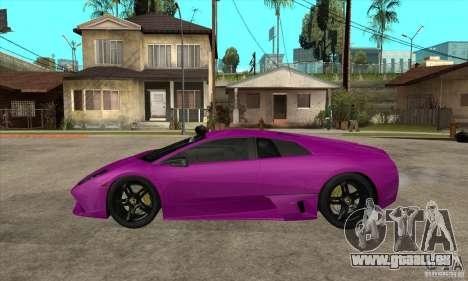 Lamborghini Murcielago LP640 für GTA San Andreas zurück linke Ansicht