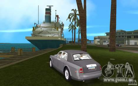 Rolls Royce Phantom für GTA Vice City zurück linke Ansicht