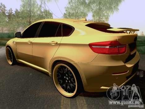BMW X6M Hamann für GTA San Andreas obere Ansicht