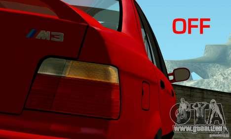 BMW E36 320i pour GTA San Andreas vue de droite