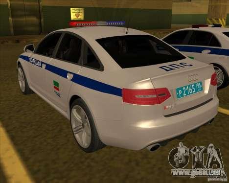 Audi RS6 2010 DPS pour GTA San Andreas laissé vue