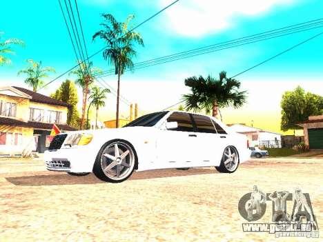 Mercedes-Benz S600 AMG pour GTA San Andreas laissé vue