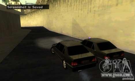 Mercedes-Benz W140 S600 Long Deputat Style pour GTA San Andreas sur la vue arrière gauche