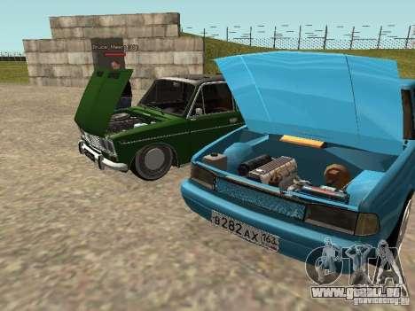 Moskvich 2141 für GTA San Andreas Innen