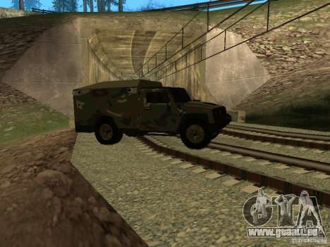Hummer H2 Army pour GTA San Andreas vue de côté